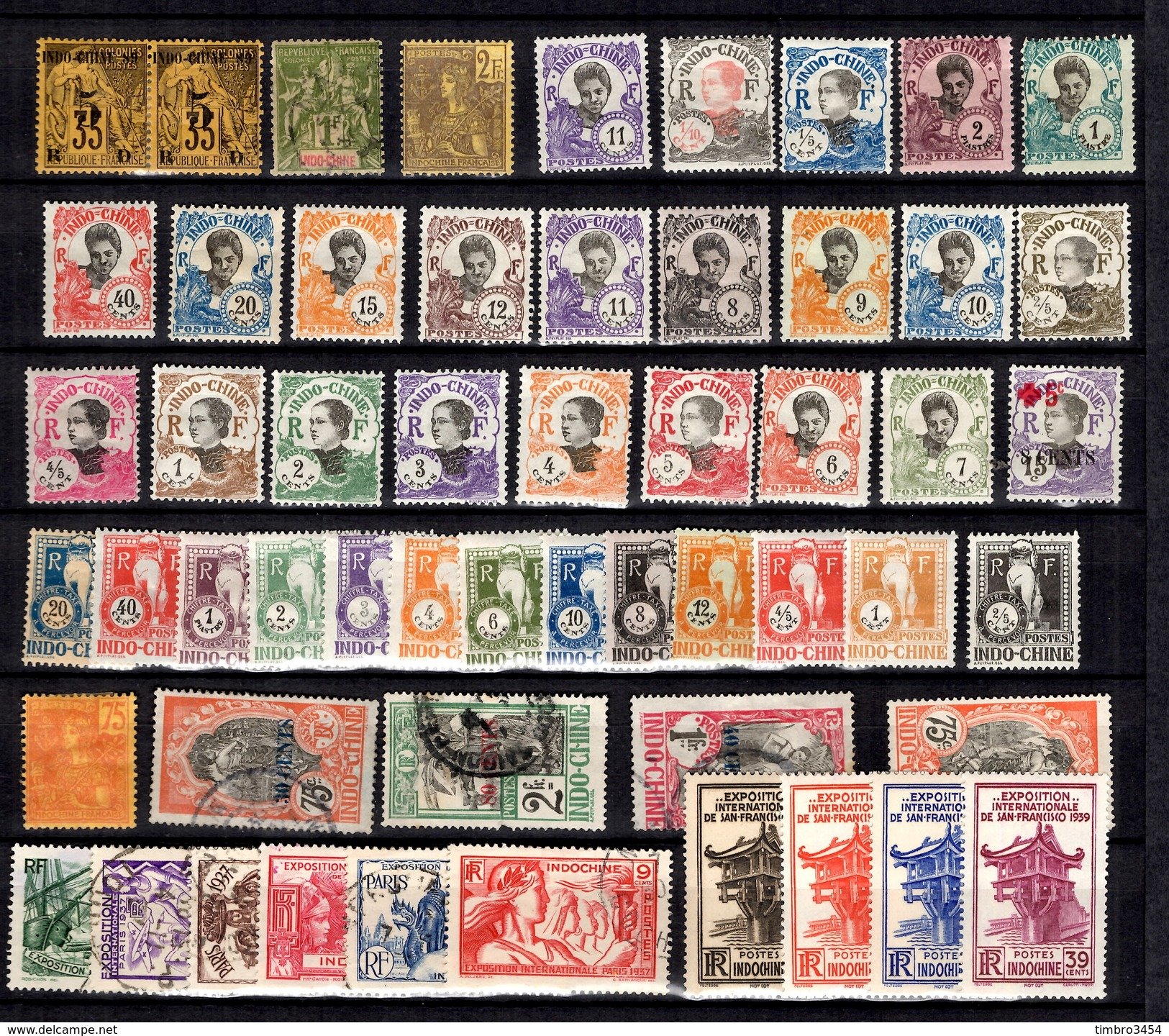 Indochine Belle Petite Collection D'anciens 1889/1937. Bonnes Valeurs. B/TB. A Saisir! - Indochina (1889-1945)
