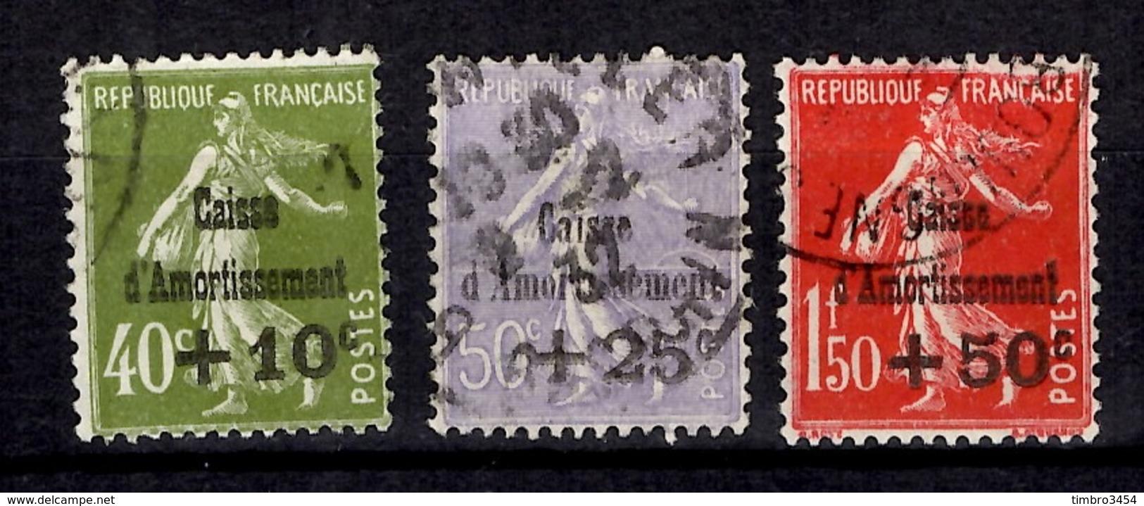 France Caisse D'Amortissement YT N° 275/277 Oblitérés. B/TB. A Saisir! - Used Stamps