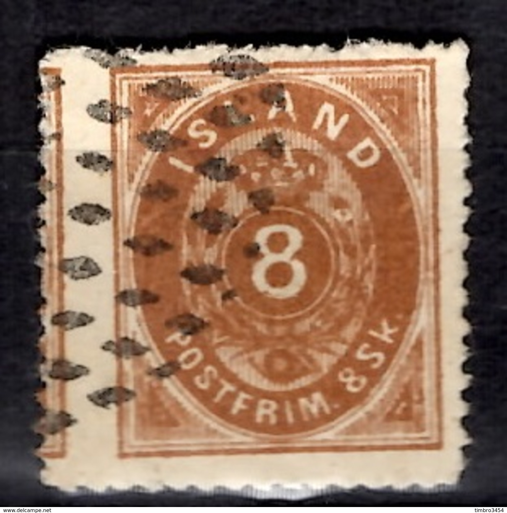 Islande YT N° 4 Oblitéré. Rare! B/TB. A Saisir! - 1873-1918 Danish Dependence