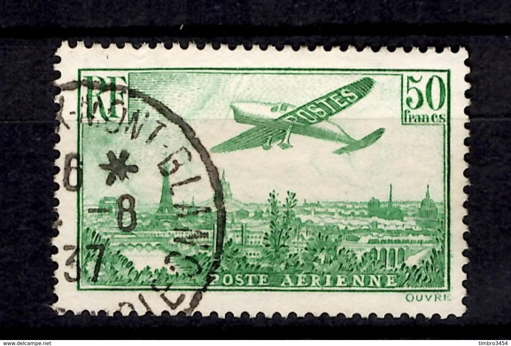 France Poste Aérienne YT N° 14 Oblitéré. B/TB. A Saisir! - 1927-1959 Used