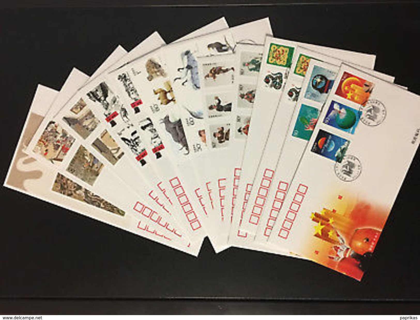 2001 Full Year PRC Stamps & S/S FDCs (70pcs) In Postal Fresh Condition - 1949 - ... People's Republic