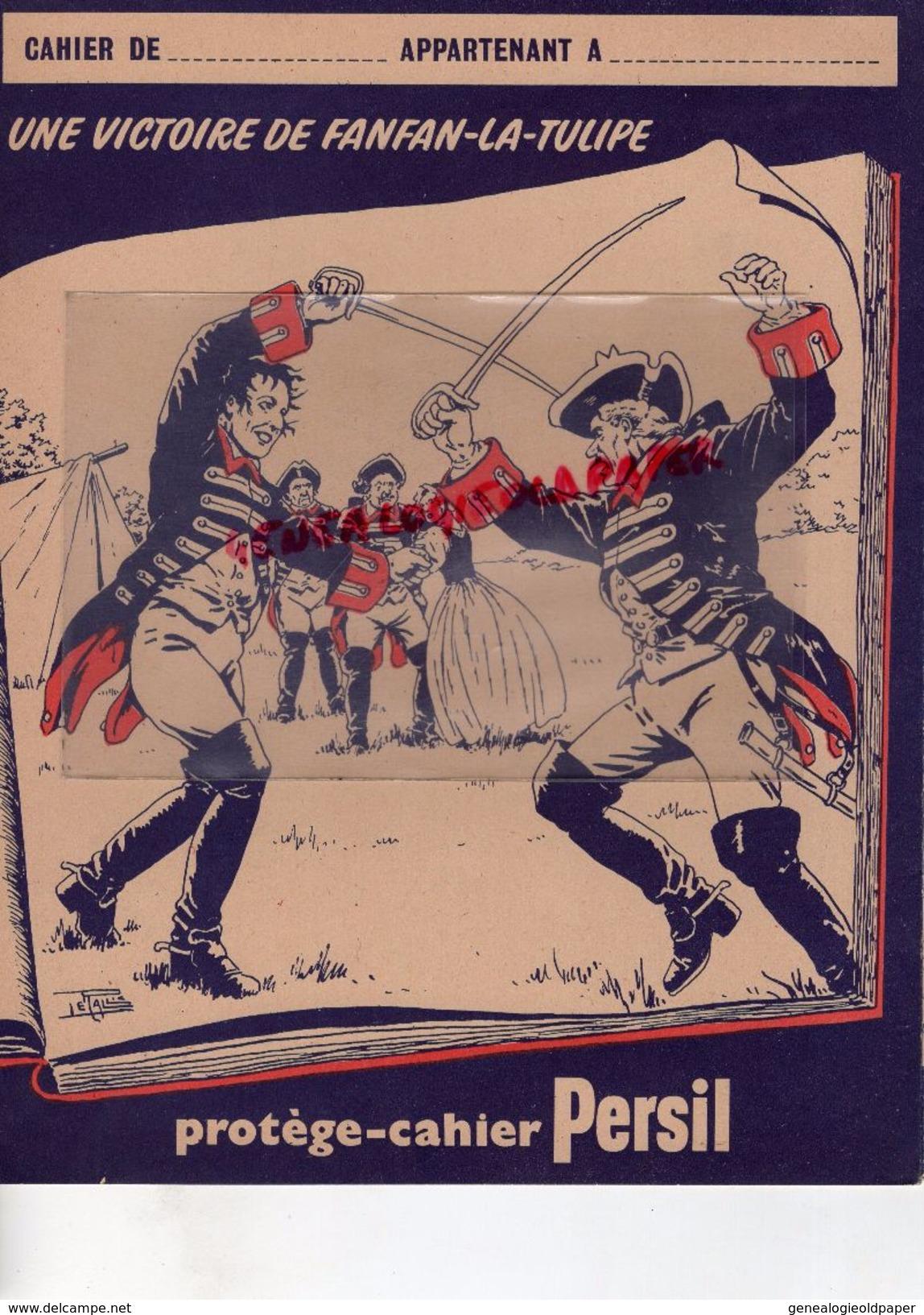 PROTEGE CAHIER PERSIL -SAVON  LESSIVE - INVENTEUR HENKEL -ALLEMAGNE 1907-SAVONNERIE -FANFAN LA TULIPE -ESCRIME - Vloeipapier