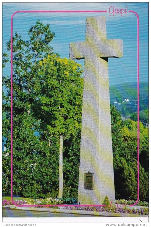 Canada Gaspe Granite Cross At Christ-Roi Cathedral