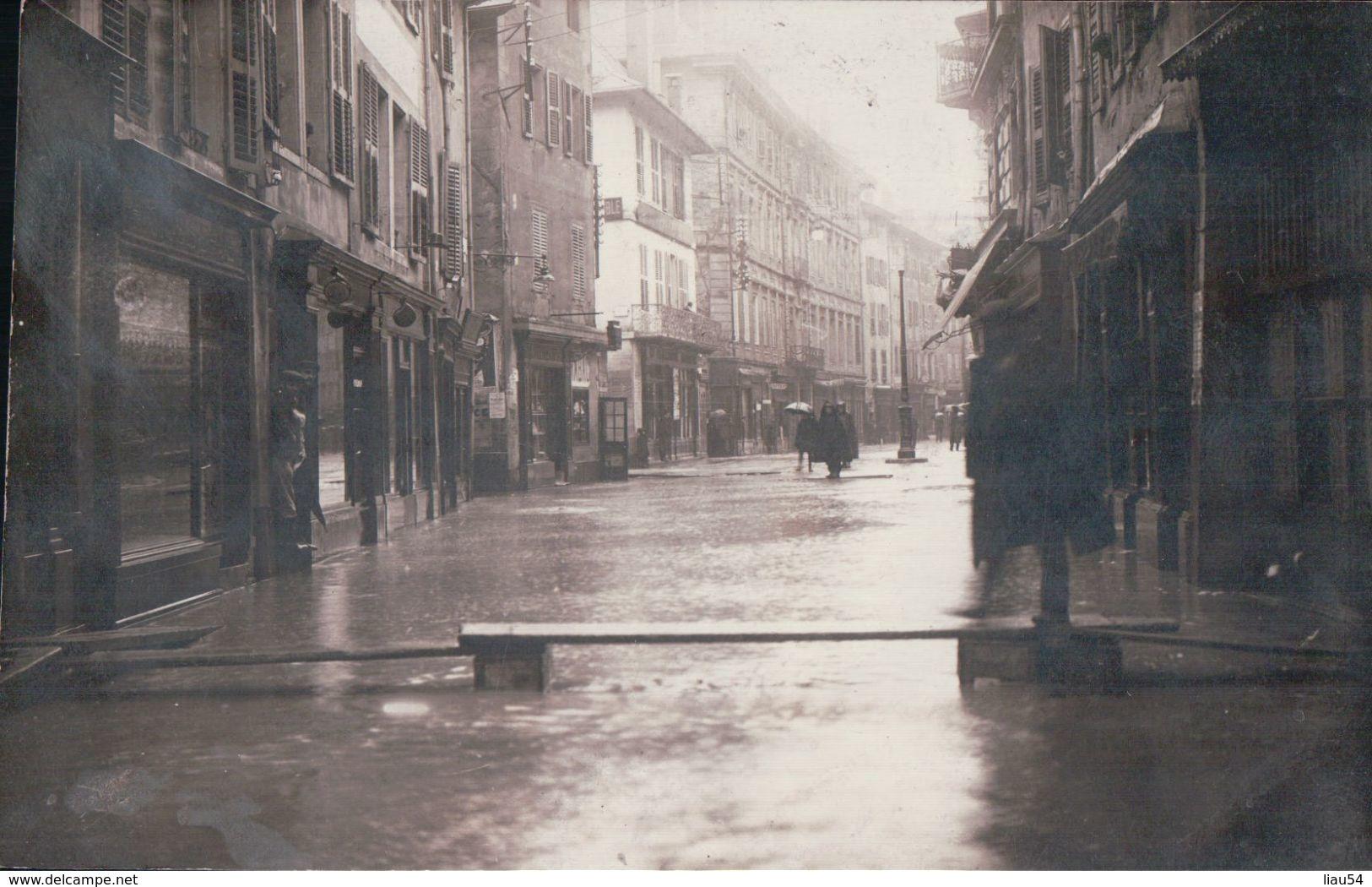CARTE-PHOTO Chambéry Le 21 01 1910 Inondations - Chambery