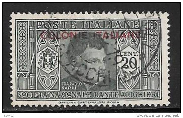 Italian Colonies General, Scott # 3 Used Italy Dante Overprinted, 1932 - General Issues