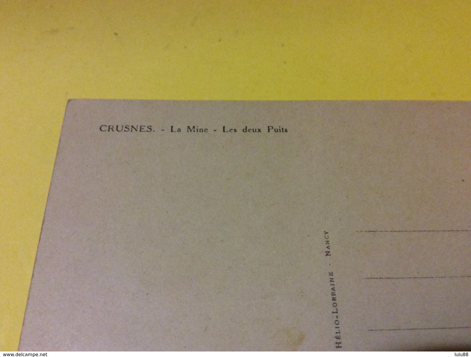 CRUSNES. La Mine. Chevalement  Les 2 Puits  10/10/17 - France