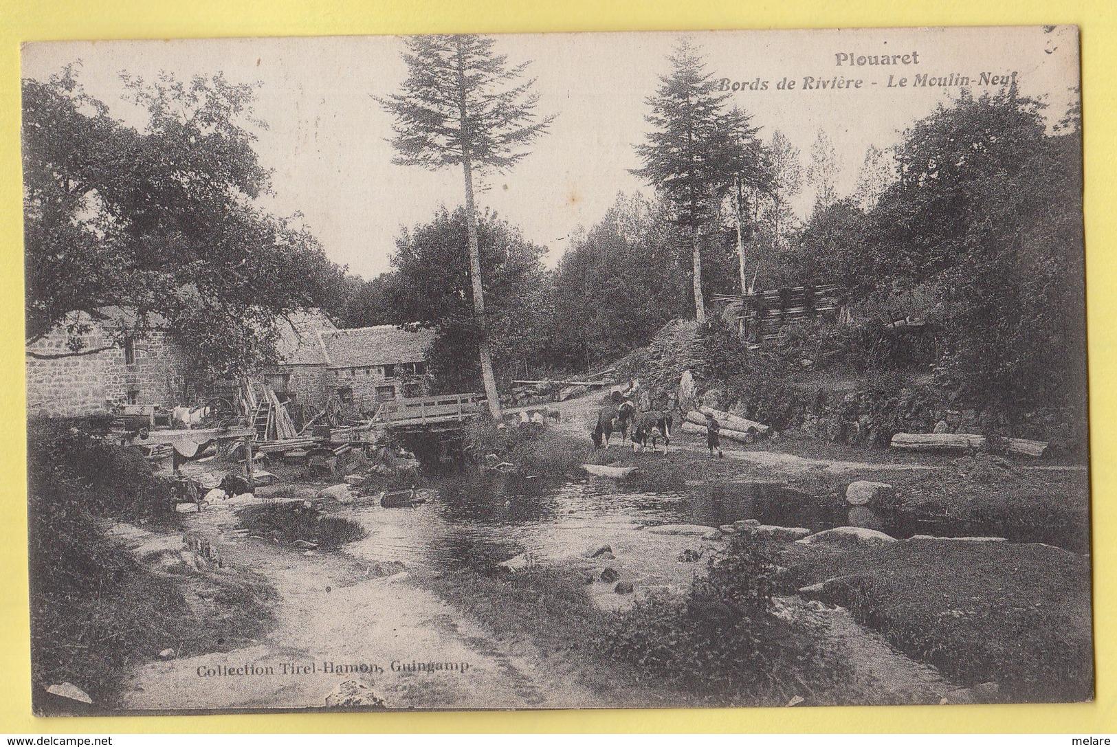 22 PLOUARET Bords De La Rivière Le Moulin Neuf - Plouaret