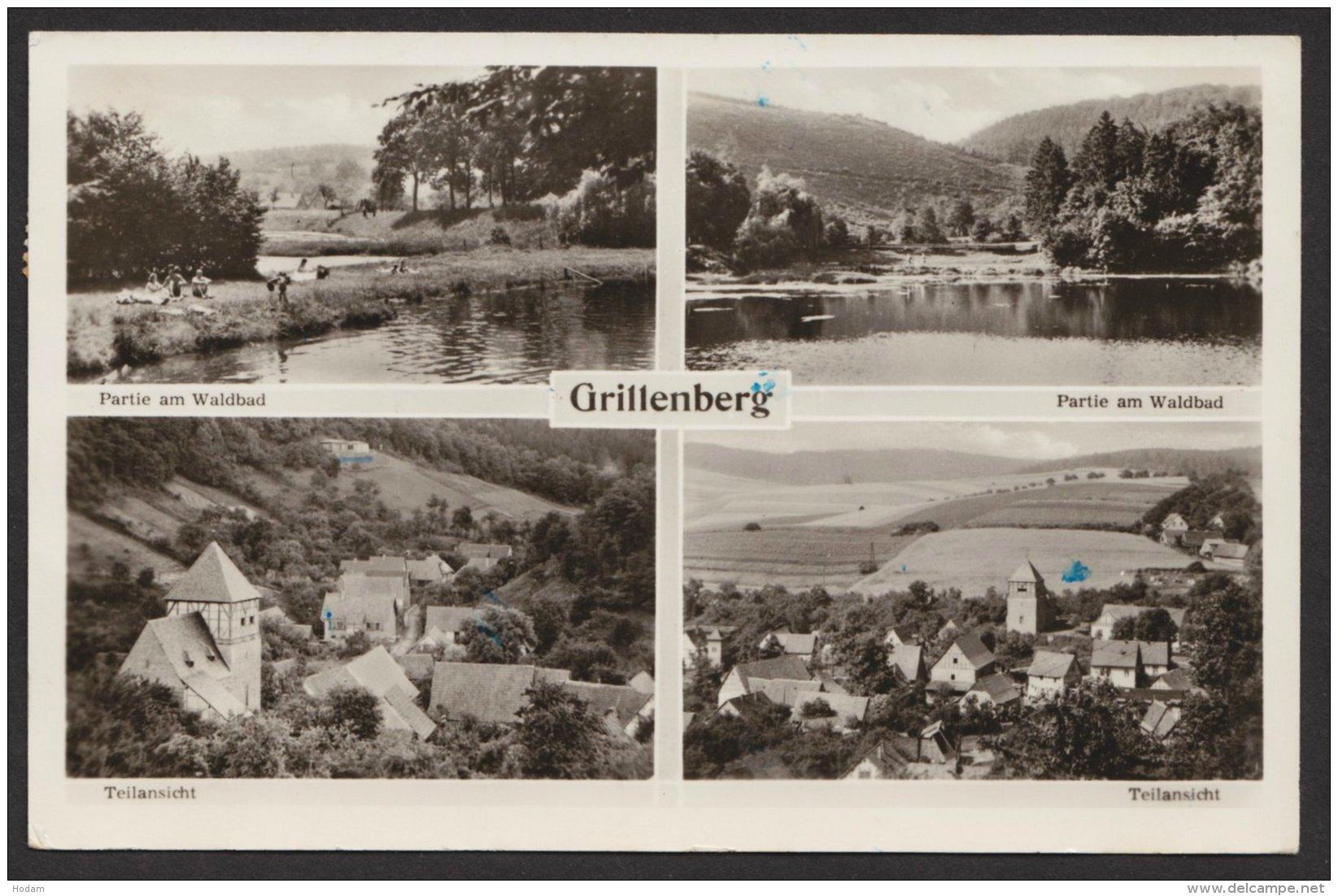 """""""Grillenberg Bei Sangerhausen, Fotokarte, 1957 Gelaufen - Deutschland"""