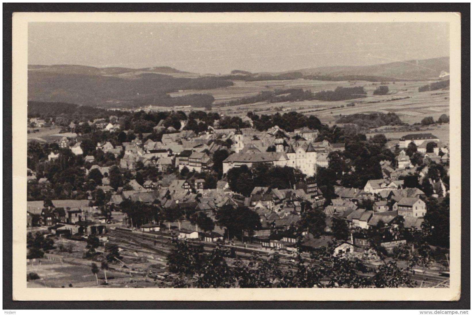 Schleusingen Mit Bahnhof, Fotokarte, 1958 - Schleusingen