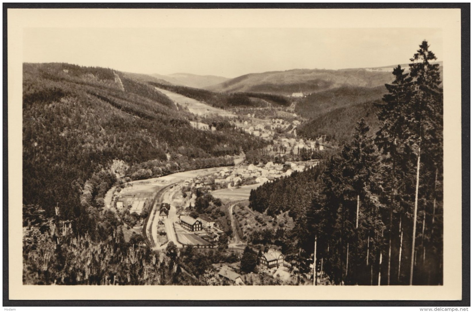 Sitzendorf, Fotokarte Mit Bahnhof, 1957 - Deutschland