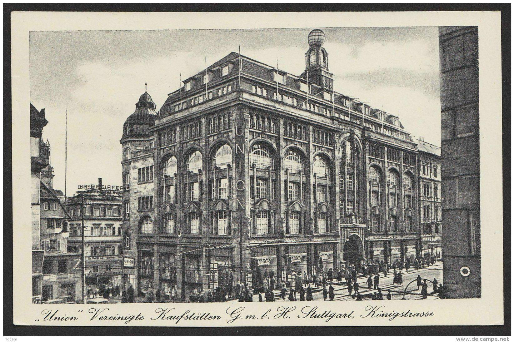 """Stuttgart"", Union Kaufstätte, Königsstraße, 1943 Gelaufen - Stuttgart"