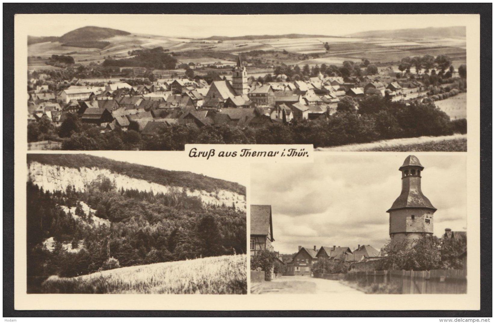 Themar: Mehrbild- Fotokarte, 1956 - Themar