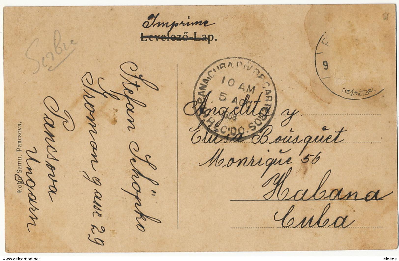 Pancsova Starcsoval-ut Edit Kohn Samu. To Cuba 1908 - Serbie