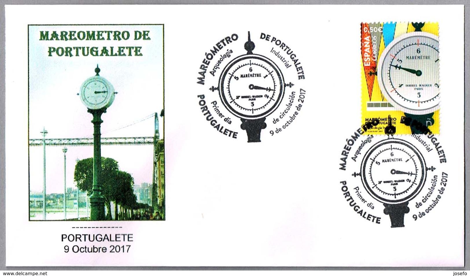 MAREOMETRO DE PORTUGALETE - Mareogragh - Sea Level Recorder - Maregrphe. SPD/FDC Portugalete 2017 - Ciencias