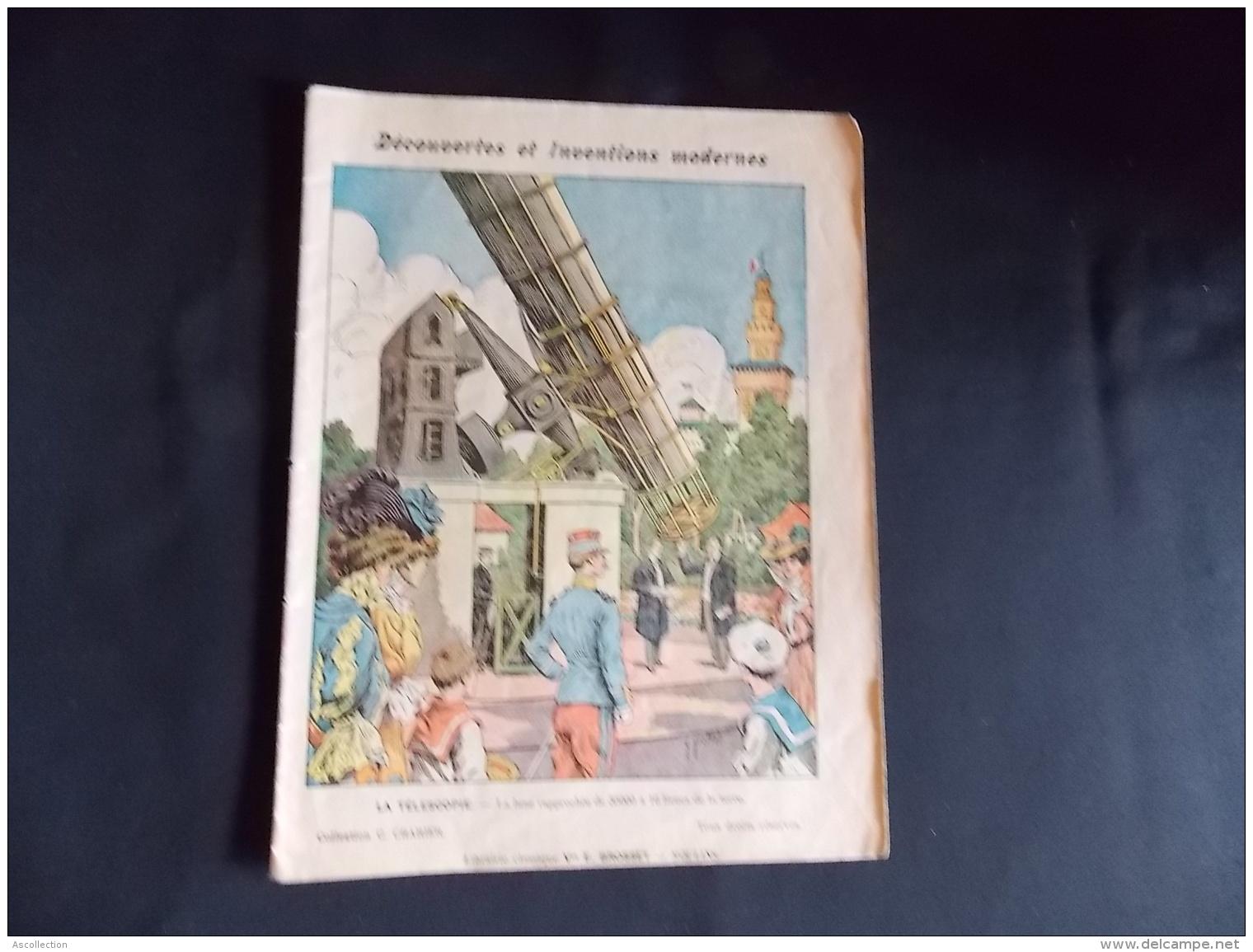 Protege Cahier Couvre Cahier Circa 1910 Ill. G Grelltet  Decouvertes Et Inventions Modernes  Lib. E Brosset Moulins - Buvards, Protège-cahiers Illustrés