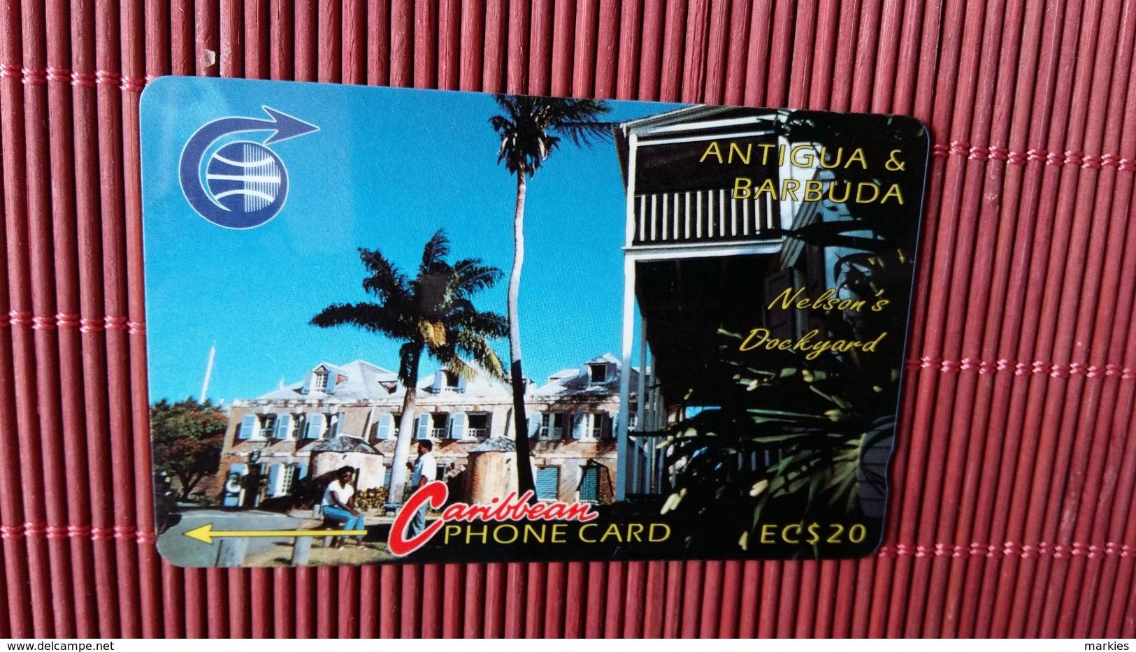 Phonecard Antigua & Barbuda 20 $ Number 4CATB Used Rare - Antigua And Barbuda