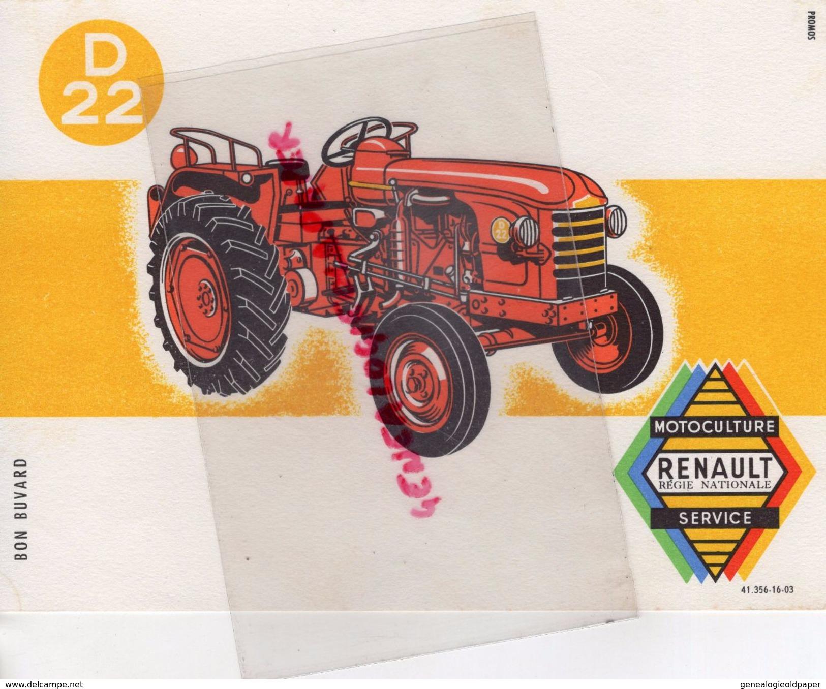 BUVARD TRACTEUR RENAULT - MOTOCULTURE AGRICULTURE - Agriculture