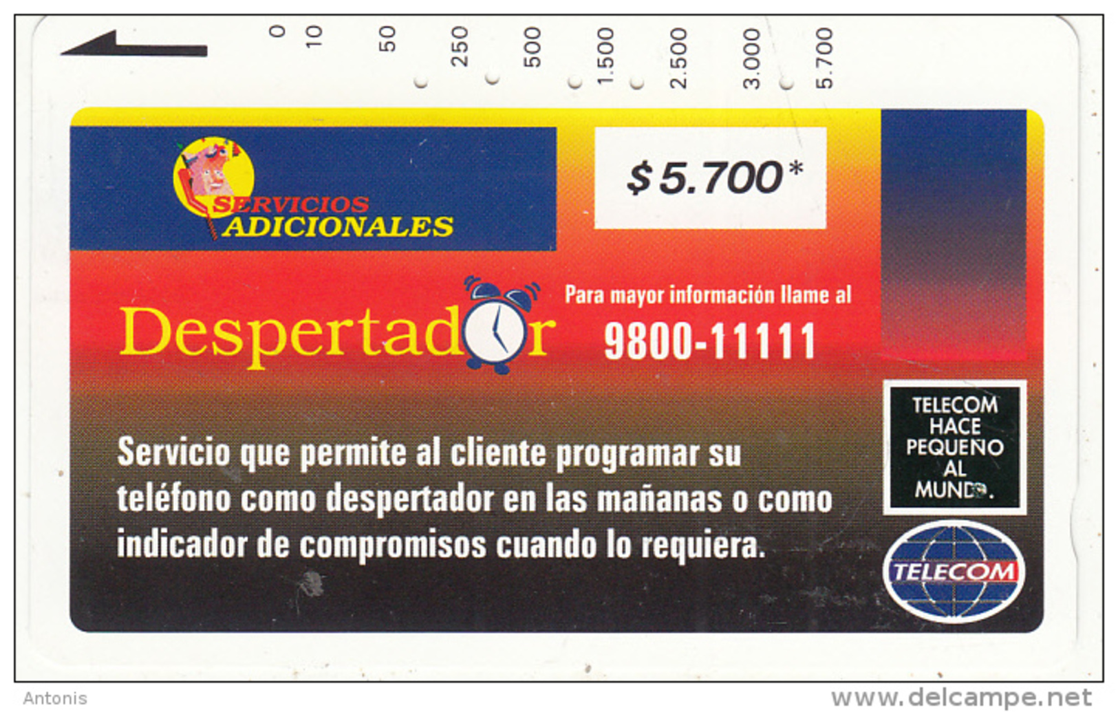 COLOMBIA(Tamura) - Despertador 1($5700), Used - Colombia