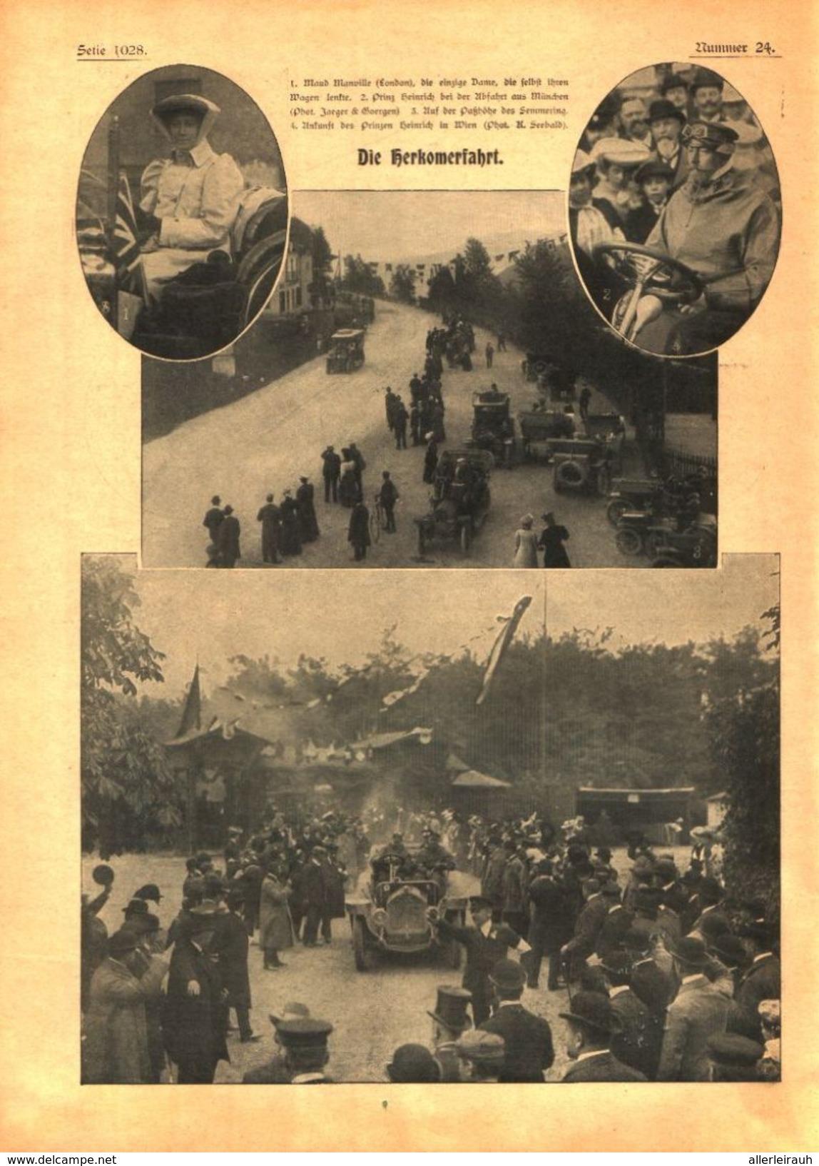 Die Herkomerfahrt  / Druck, Entnommen Aus Zeitschrift/  1906 - Bücher, Zeitschriften, Comics