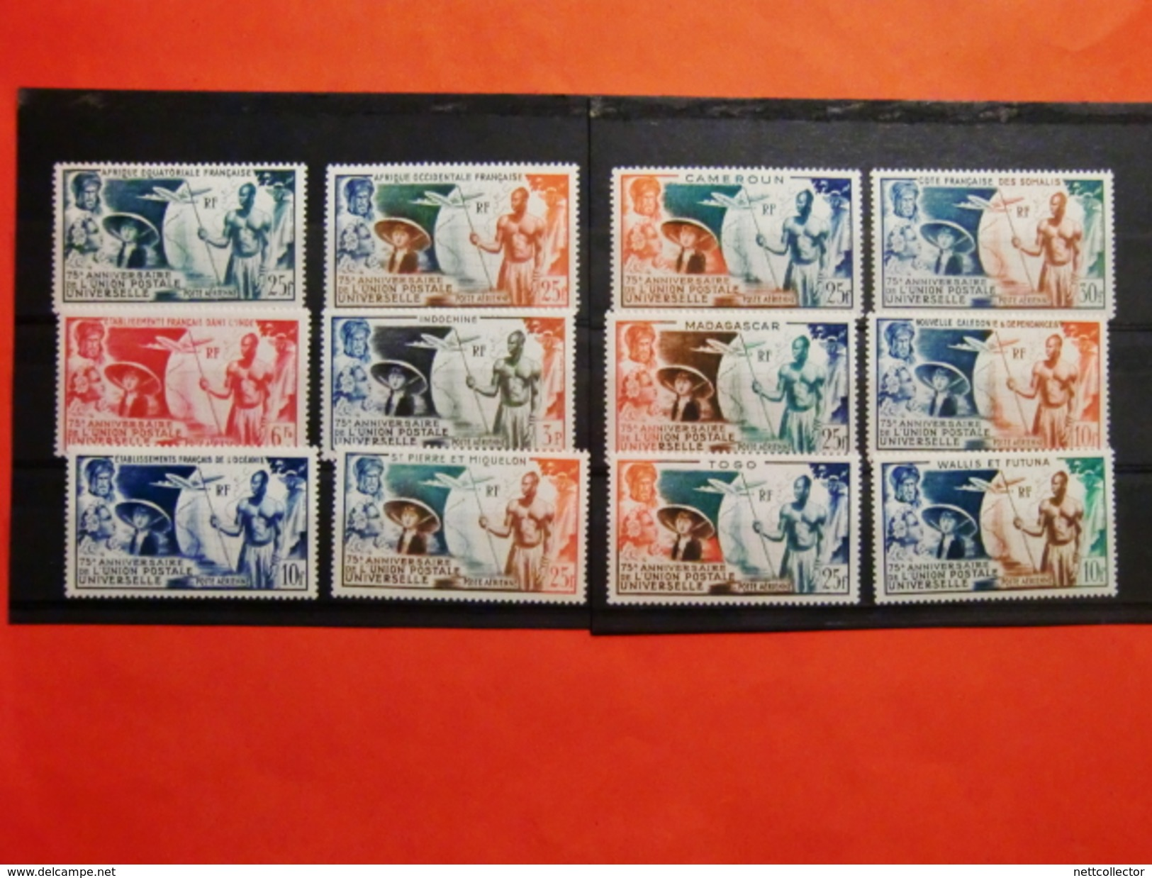 SERIE COLONIALE UPU 12 TIMBRES DIFF NEUFS** SUP - 1949 75e Anniversaire De L'UPU