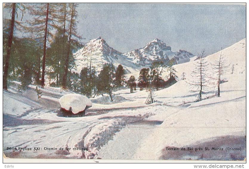 ---GR ---  Terrain De Ski   Près De St Moritz -  Neuve Excellent état - GR Grisons