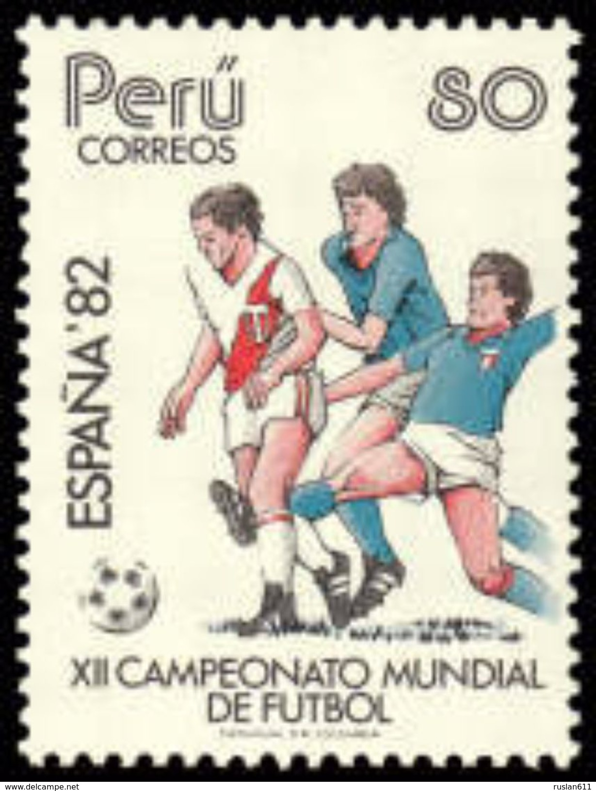Soccer Football Peru #1231 1982 World Cup Spain MNH  ** - 1982 – Spain