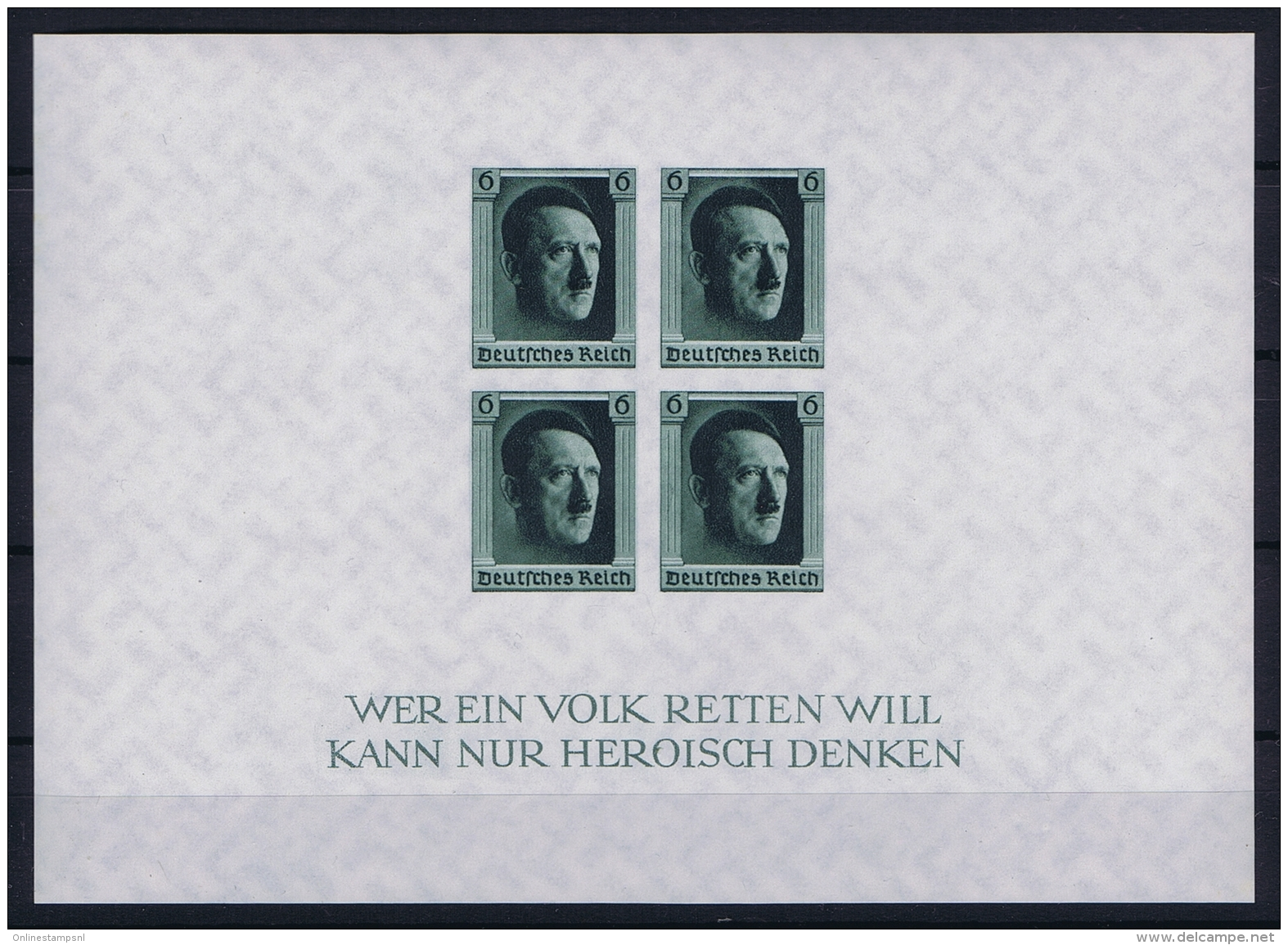 Deutsche Reich: Block Nr 8 1937 MNH/**/postfrisch/neuf Sans Charniere - Deutschland