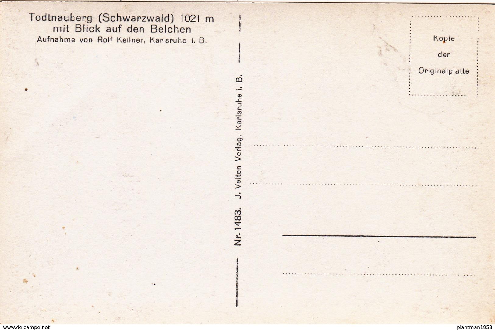 Old Postcard Of Todtnauberg, Baden-Württemberg, Germany ,V17. - Other