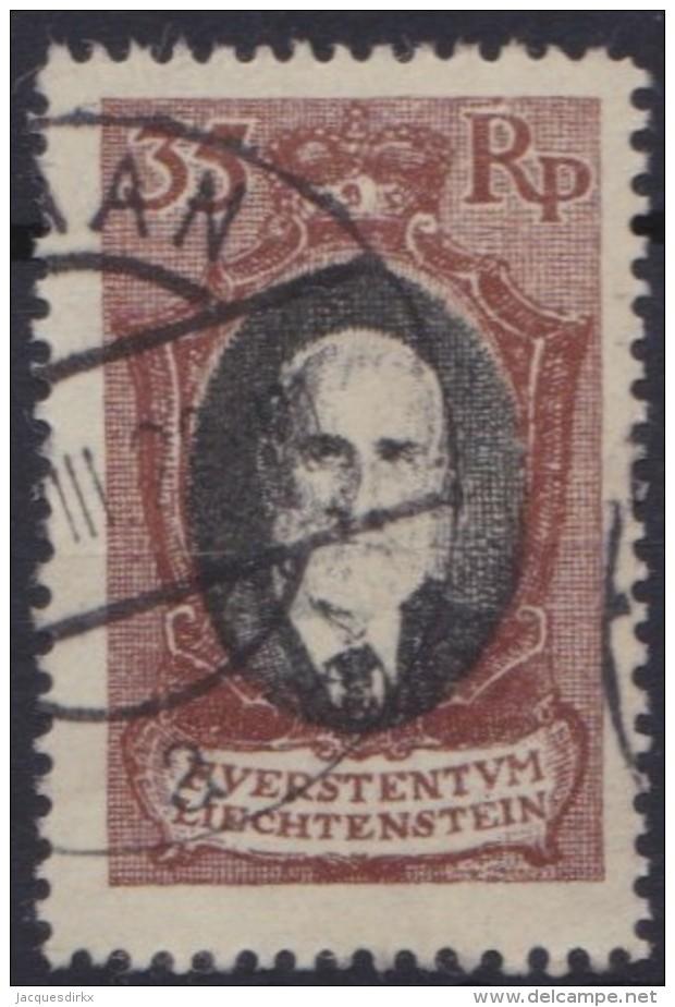 Liechtenstein   .    Yvert   .   55         .    O     .          Gebraucht - Liechtenstein