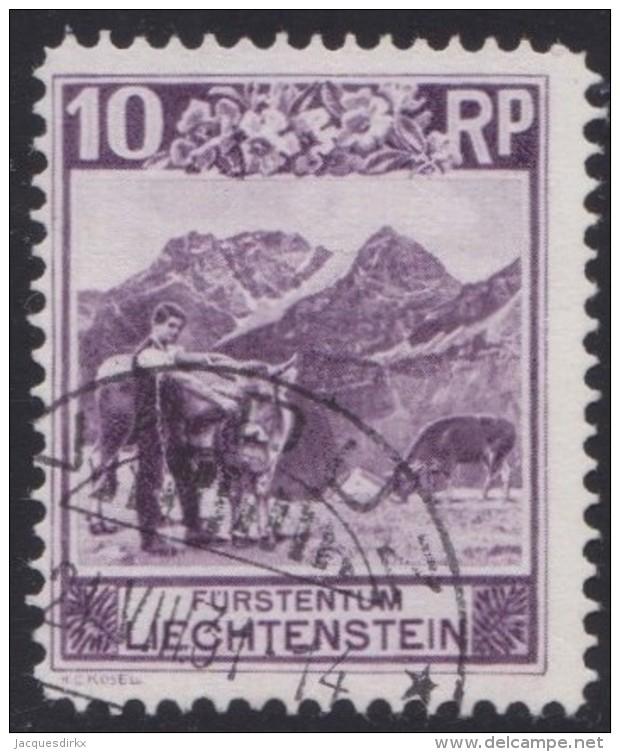 Liechtenstein   .    Yvert   .    96          .    O     .          Gebraucht - Liechtenstein