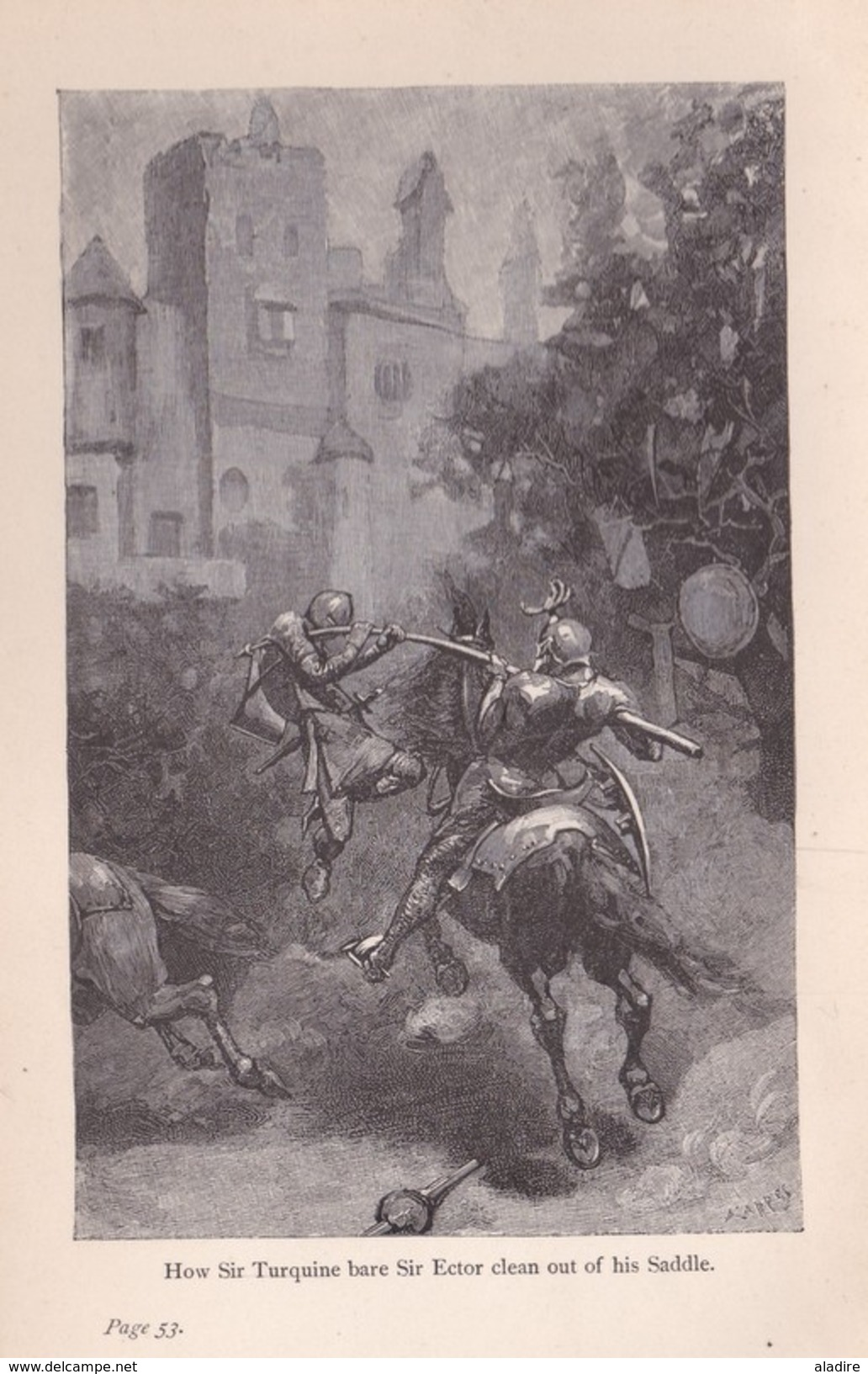 The Boy's King Arthur, Sidney Lanier, 1st Edition Boston, USA, 1880 - Illustrated By Alfred Kappes - Children's