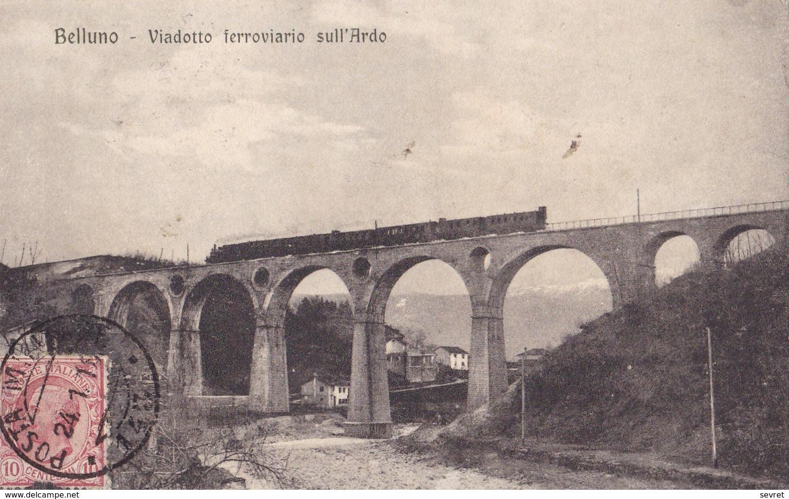 BELLUNO - Viadotto Ferroviario Sull'Ardo. Carte  RARE - Belluno