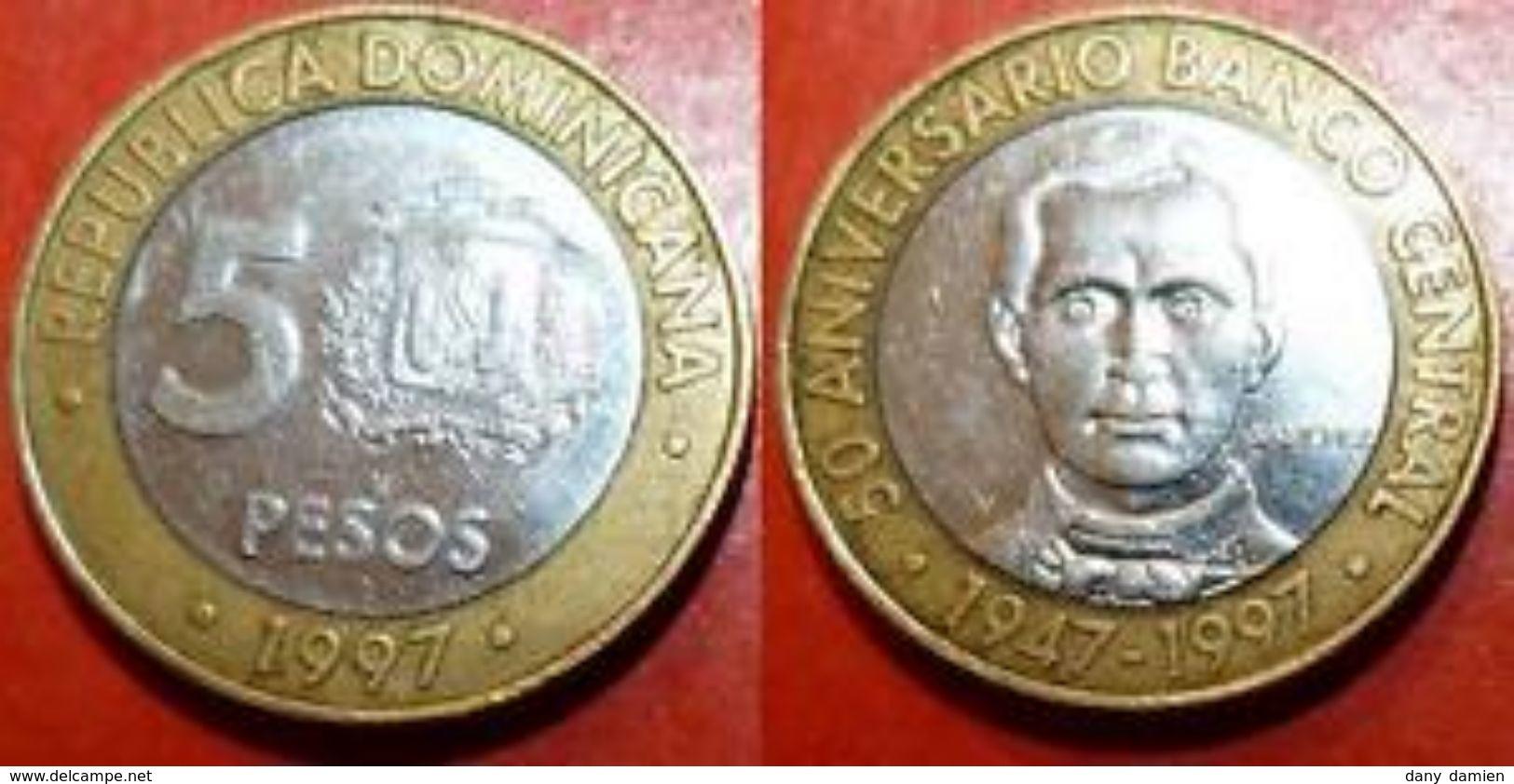 REPUBLIQUE DOMINICAINE - REPUBLIC DOMINICANA - 5 PESOS (1997) - Dominicaine