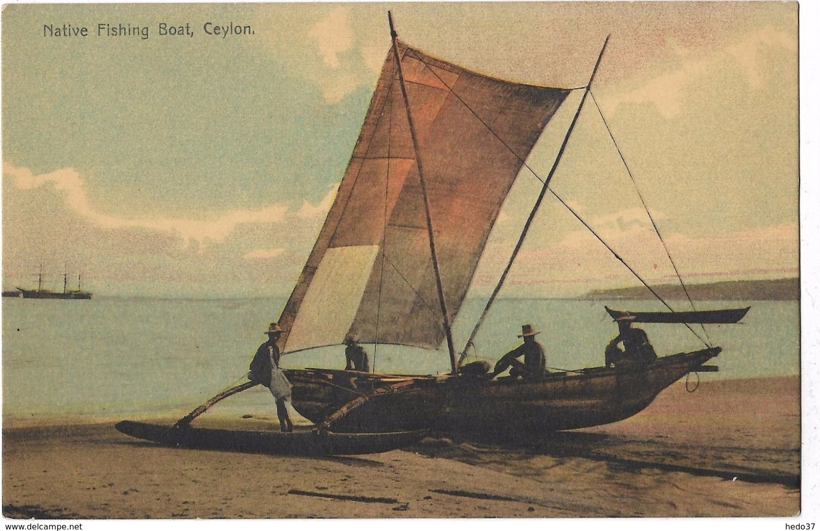 Native Fishing Boat, Ceylon - Postcards