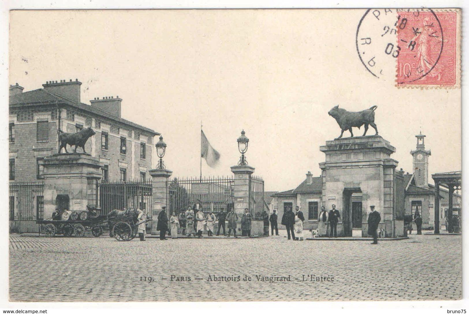 75 - PARIS 15 - Abattoirs De Vaugirard - L'Entrée (Rue Des Morillons) - Marmuse 119 - Paris (15)