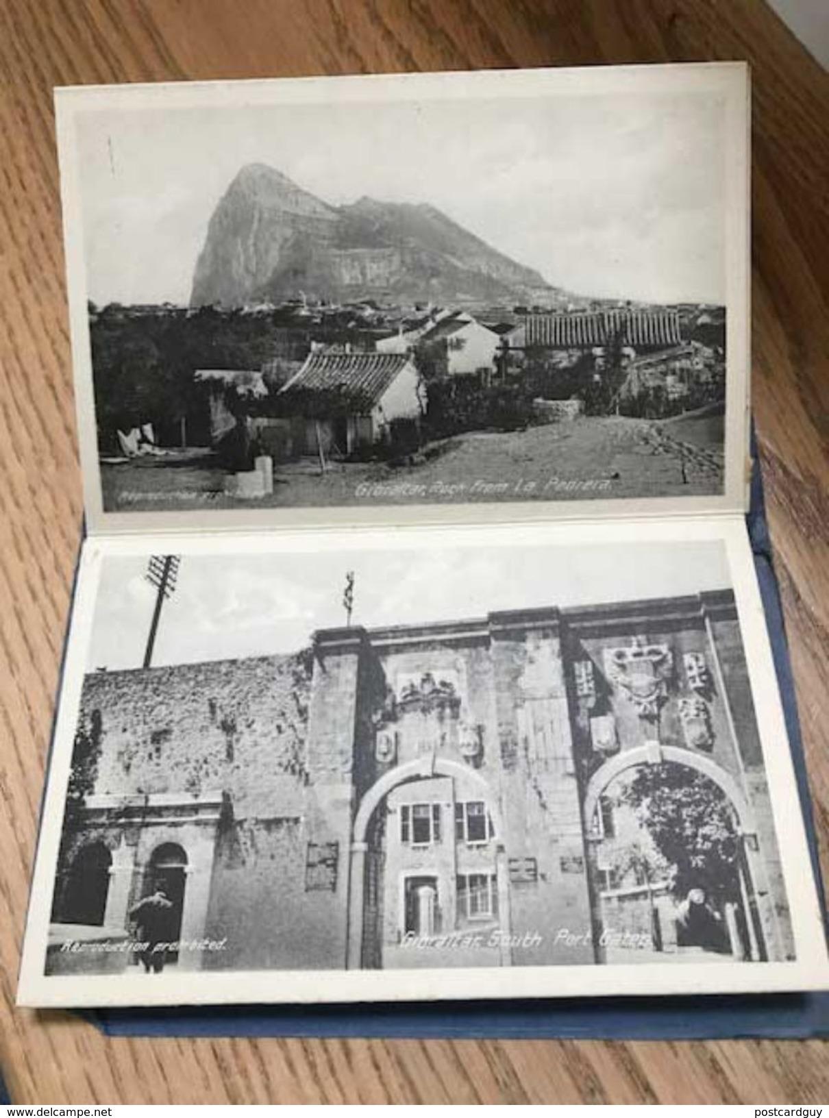 CPA - Gibraltar Carnet, Booklet - 12 Postcards - Gibraltar
