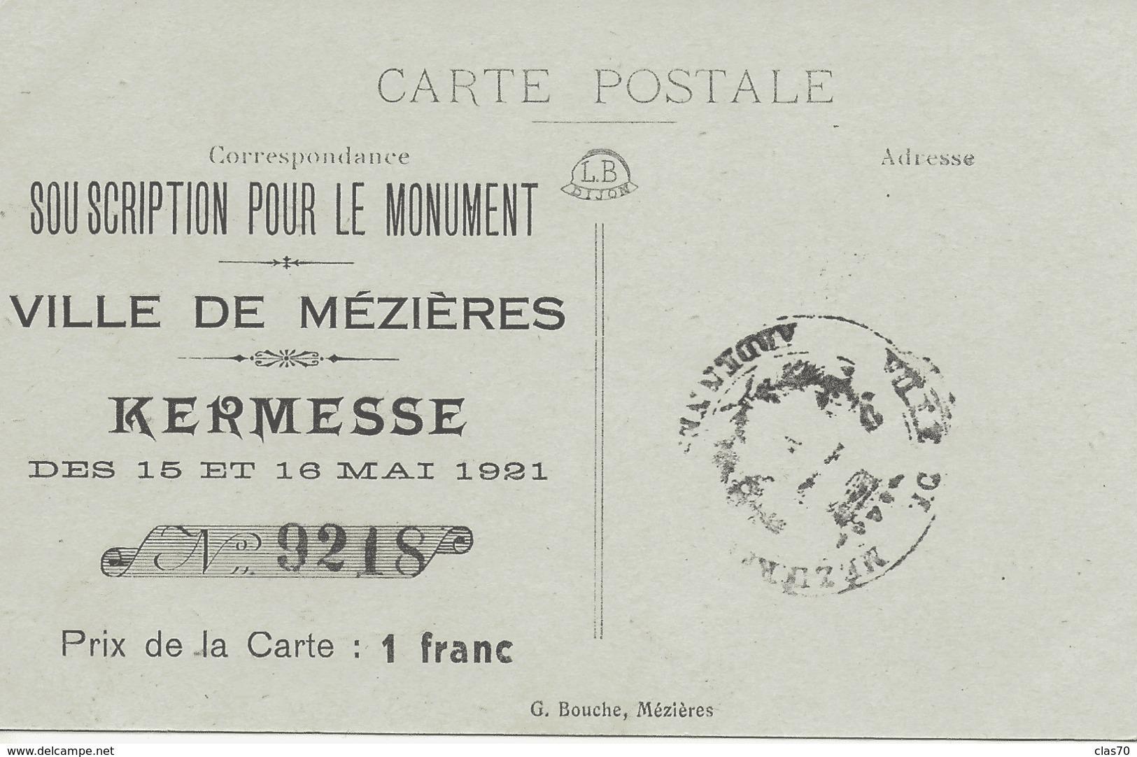 MEZIERES - LE PONT DE PIERRE - MAGNIFIQUE ANIMATION - 1921 - Charleville