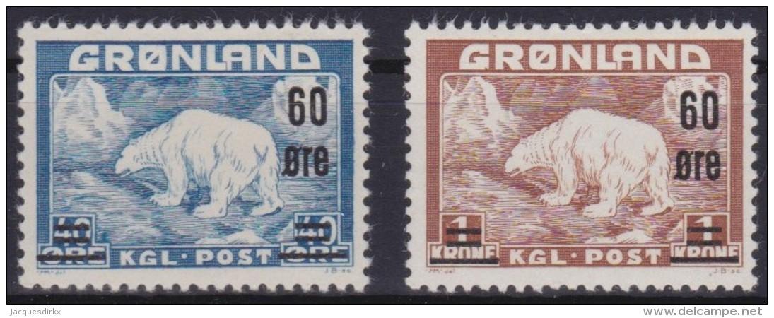 Groenland     .    Yvert   .    28/29      .     **  .   Postfris   .   /   .  MNH - Groenland