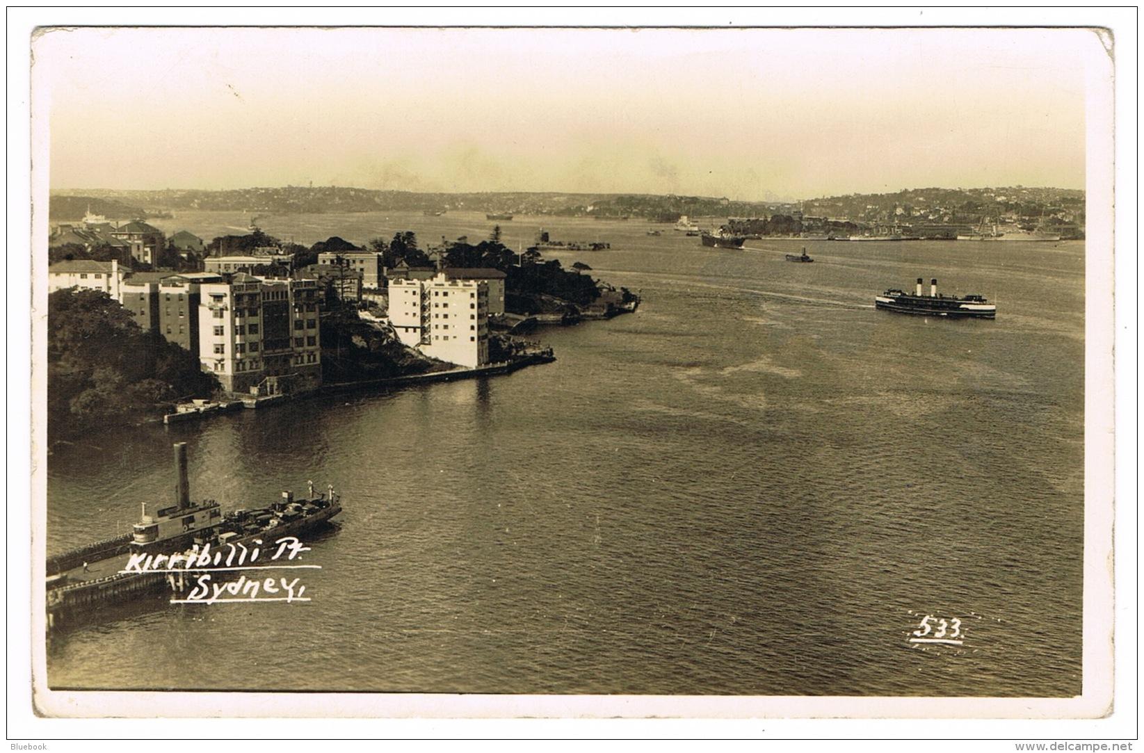 RB 1170 -  Early Real Photo Postcard - Kirribilli Point & Apartments Sydney NSW Australia - Sydney