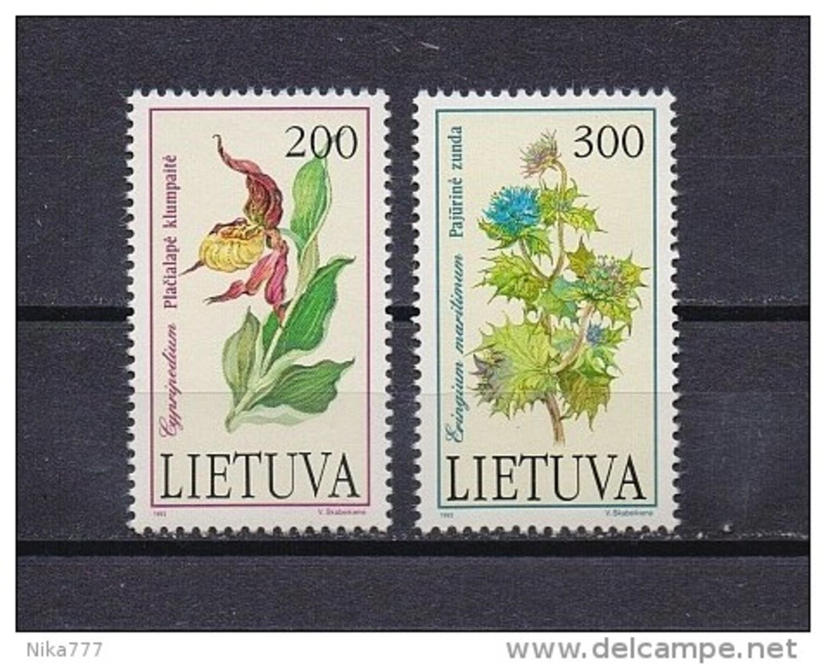 Lithuania Mint (**) 1997 Set Stamp Flora Flower - Lithuania