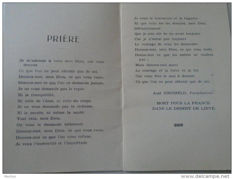 D154262 Parachute Parachutiste - A-Durrmeyer - Aspt Zirnheld Mort Pour La France Dans Le Desert Du Libye WWII  Ca 1940 - 1939-45