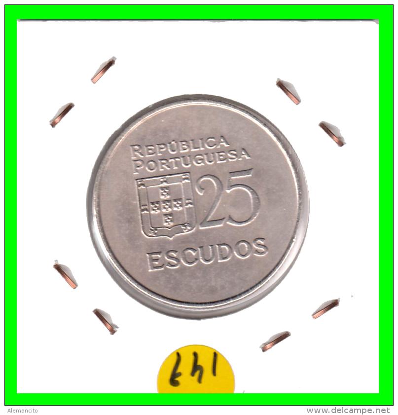 PORTUGAL  /  MONEDA RÉPUBLICA > 25 - ESCUDOS AÑO 1985 - Portugal