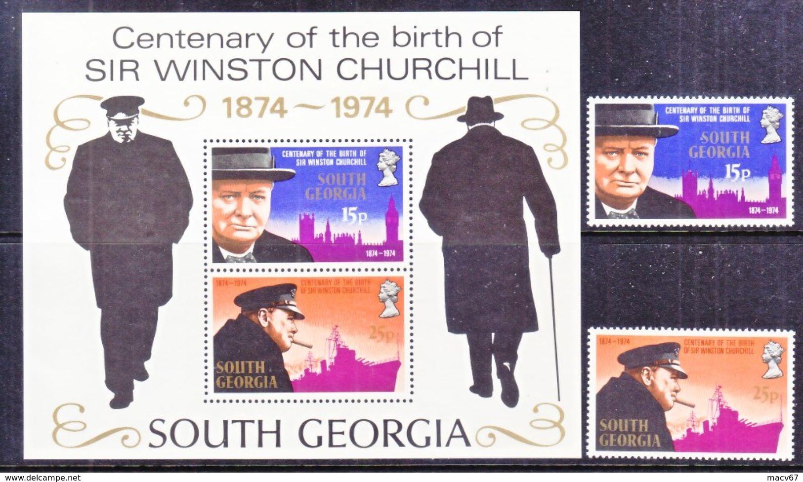 SOUTH  GEORGIA  39-40a  **   SIR  WINSTON  CHURCHILL - Sir Winston Churchill
