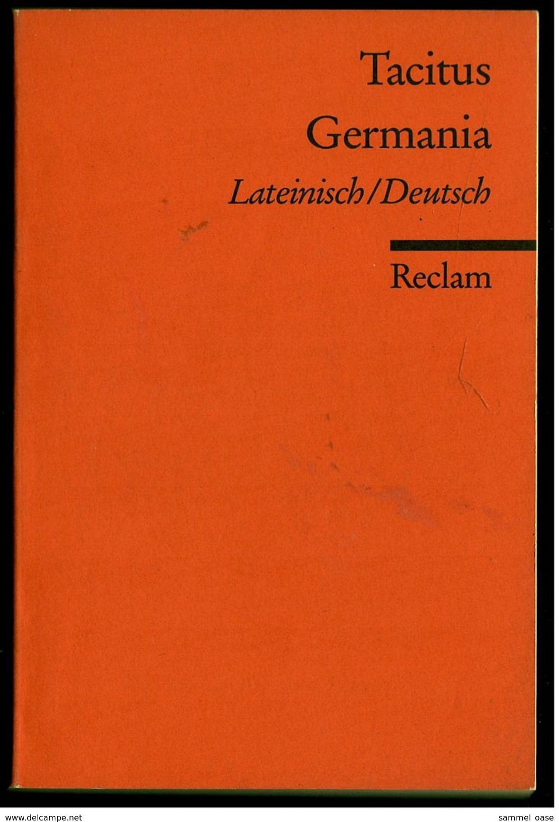 Reclam Heft  -  Tacitus Germania  -  Lateinisch / Deutsch  -  2007 - Theatre & Scripts