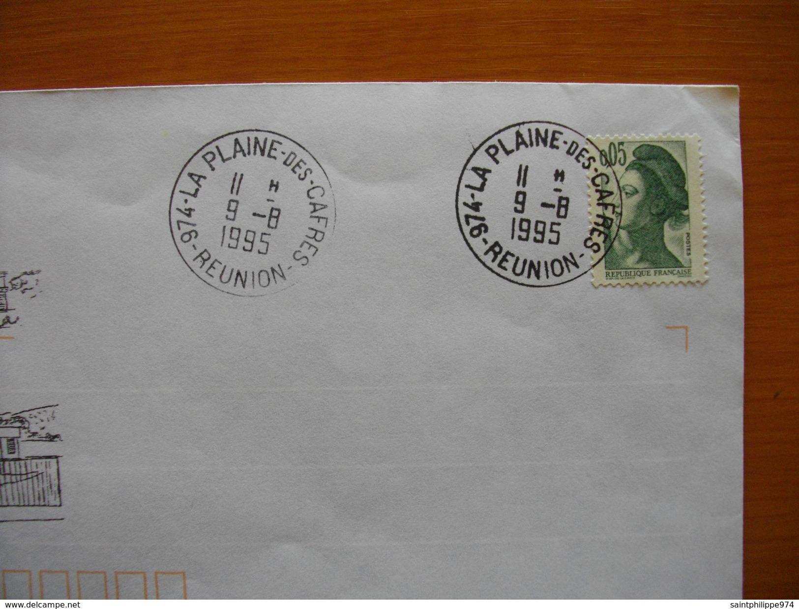 Réunion : Lettre Illustrée De 1995 « Inauguration De La Poste De La Plaine Des Cafres » - Reunion Island (1852-1975)