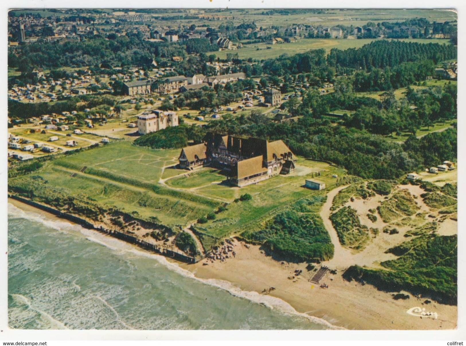 """14 - Cabourg          Vue Aérienne        Colonie De Vacances """"SWEET-HOME"""" - Cabourg"""
