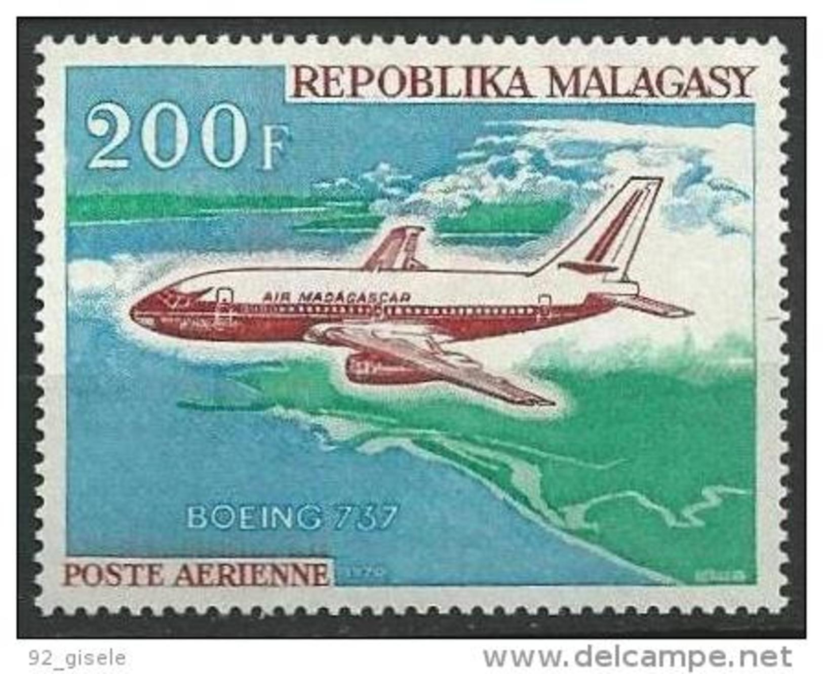"Madagascar Aerien YT 113 (PA) "" Boeing "" 1970 Neuf** - Madagascar (1960-...)"