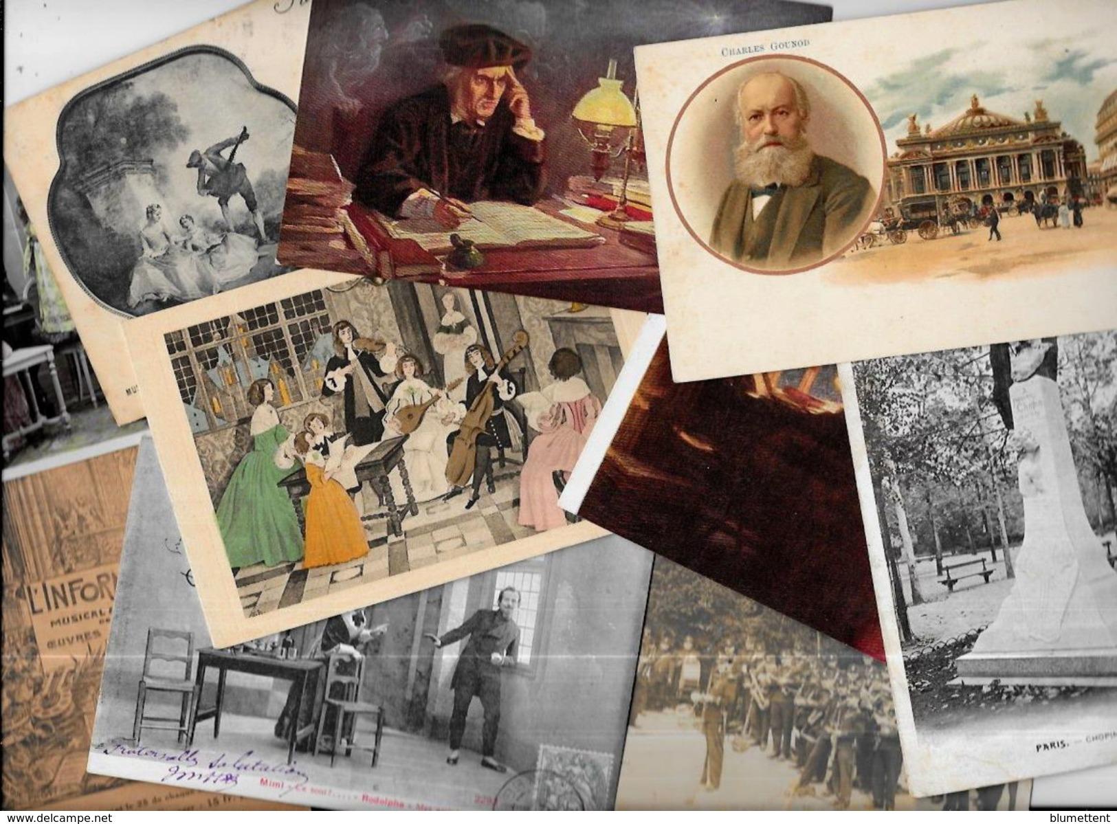 Lot 939 De 10 CPA CPSM Musique Fantaisies Illustrateurs Déstockage Pour Revendeurs Ou Collectionneurs - Postcards