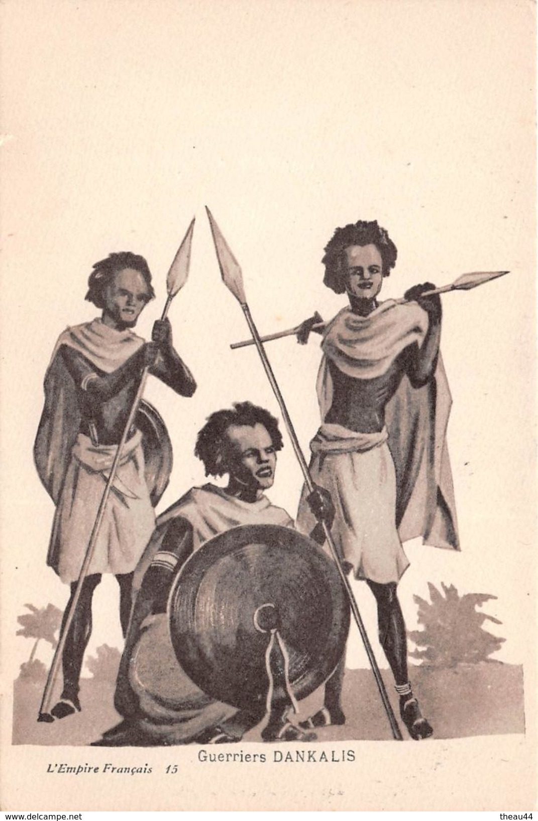 ¤¤   -  SOMALIE  -  Guerriers DANKALIS   - Dessin , Illustrateur   -  ¤¤ - Somalie