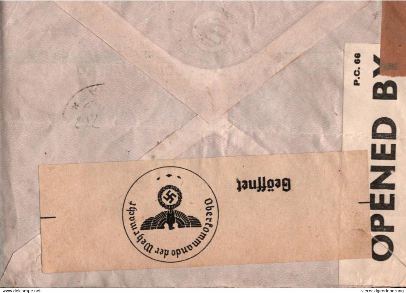 ! Old Airmail Cover 1940 Colombia, Kolumbien Bogota To Hamburg, Par Avion Flugpost, Poste Aerienne, Correo Aereo, Censor - Colombie